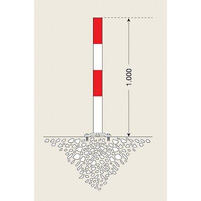 MORAVIA Sperrpfosten aus Stahl - zum Aufdübeln, Ø 76 mm