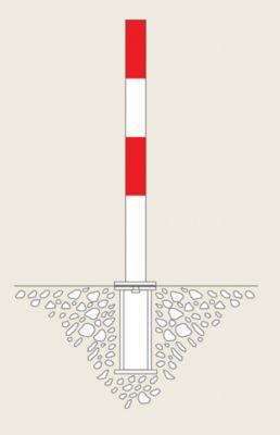 Sperrpfosten aus Stahl - zum Einbetonieren, Ø 76 mm