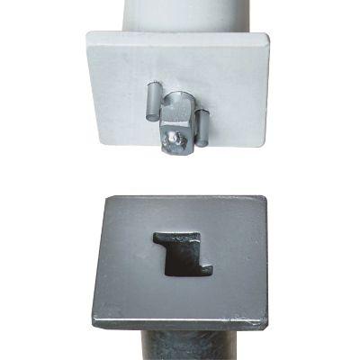 Sperrpfosten aus Stahl - zum Aufdübeln, 70 x 70 mm
