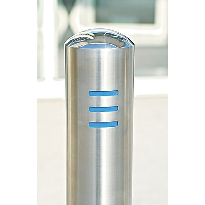 MORAVIA Edelstahlpoller - Rohr-Ø 108 mm, zum Aufdübeln