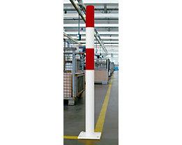 Rammschutz-Poller - Größe S, rot / weiß