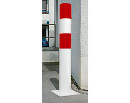 Rammschutz-Poller - Größe L, rot / weiß