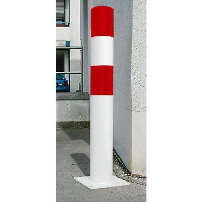 MORAVIA Rammschutz-Poller - Größe L, rot / weiß