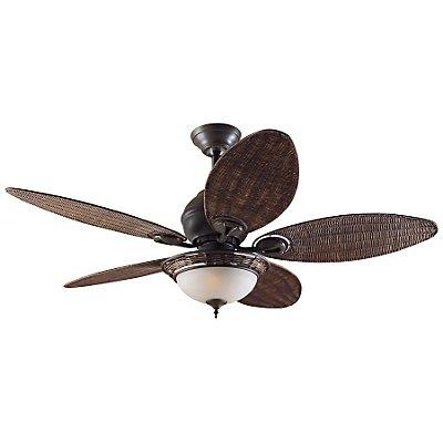 Casafan Deckenventilator CARIBBEAN BREEZE - Rotorblatt-Ø 1320 mm - Weidengeflecht dunkel / bronze verwittert