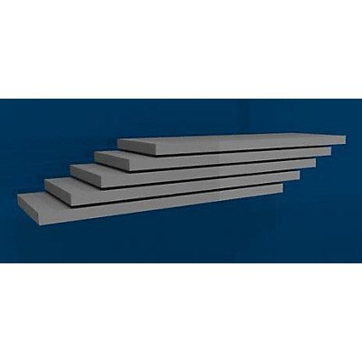 hofe Fachboden, Breite 1000 mm, VE 5 Stk - Tiefe 400 mm