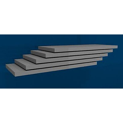 hofe Fachboden, Breite 1000 mm, VE 5 Stk - Tiefe 500 mm