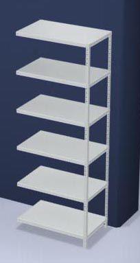 hofe Schraubregal, Bauart leicht, kunststoffbeschichtet - Regalhöhe 2500 mm, Bodenbreite 1000 mm