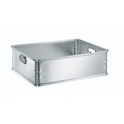 Transport- und Stapelkasten aus Aluminium - Inhalt 77 l - rollenbahngeeignet
