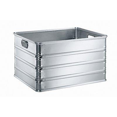 Transport- und Stapelkasten aus Aluminium - Inhalt 155 l - rollenbahngeeignet