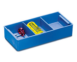 ZARGES Kunststoffeinsatz - blau, HxBxT 60 x 315 x 170 mm