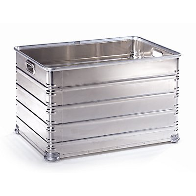 Transport- und Stapelkasten aus Aluminium - Inhalt 220 l - nicht rollenbahngeeignet