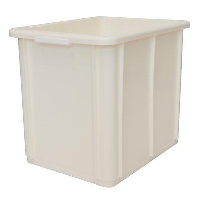 utz Stapelbehälter aus Polypropylen - Inhalt 30 l, Außenmaße LxBxH 400 x 300 x 339 mm