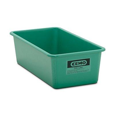 CEMO Großbehälter aus GfK - Inhalt 200 l, LxBxH 1218 x 620 x 358 mm