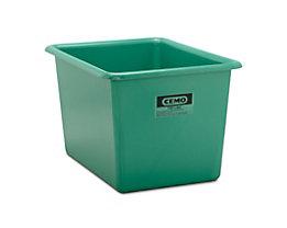 Großbehälter aus GfK - Inhalt 700 l, LxBxH 1320 x 970 x 800 mm - grün