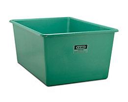 CEMO Großbehälter aus GfK - Inhalt 2200 l, LxBxH 2108 x 1480 x 915 mm, grün