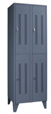 Stahlspind mit Stollenfüßen, Abteile horizontal geteilt -