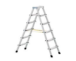ZARGES Profi-Stufenleiter, eloxiert - beidseitig begehbar