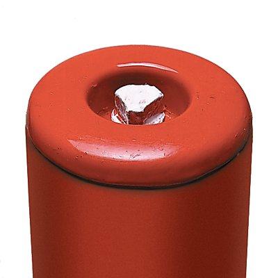 MORAVIA Sperrpfosten aus Stahlrundrohr - rot / weiß, zum Einbetonieren
