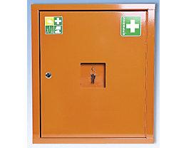 Verbandschrank nach DIN 13169 - eintürig, signalorange, HxBxT 560 x 490 x 200 mm