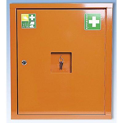 SÖHNGEN Verbandschrank nach DIN 13169 - eintürig, signalorange, HxBxT 560 x 490 x 200 mm
