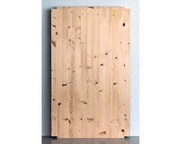 Wedeka Fachboden für Holz-Steckregal - Breite 1000 mm, gehobelt und geschliffen - Tiefe 600 mm
