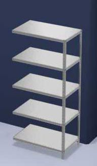 hofe Lager-Schraubregal, verzinkt, mittelschwer - Regalhöhe 2000 mm, Bodenbreite 1000 mm