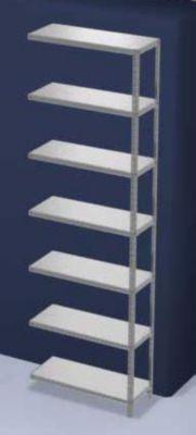 hofe Lager-Schraubregal, verzinkt, mittelschwer - Regalhöhe 3000 mm, Bodenbreite 1000 mm