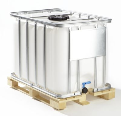 IBC Transport- und Lagertank auf Holzpalette - Inhalt 1000 Liter