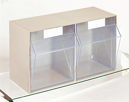 Klappkasten-System - Gehäuse-HxBxT 353 x 600 x 299 mm - 2 Kästen, sandbeige, ab 10 Stk