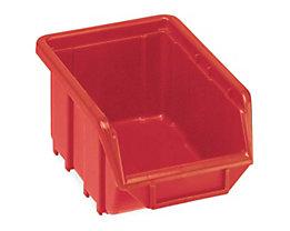 Terry Sichtlagerkasten aus Polypropylen - LxBxH 168 x 111 x 76 mm - rot, VE 60 Stk