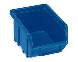 Terry Sichtlagerkasten aus Polypropylen - LxBxH 168 x 111 x 76 mm - blau, VE 60 Stk