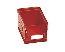 Sichtlagerkasten aus Polyethylen - Inhalt 0,8 l - rot, VE 25 Stk