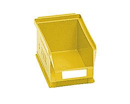 Sichtlagerkasten aus Polyethylen - Inhalt 0,8 l - gelb, VE 25 Stk
