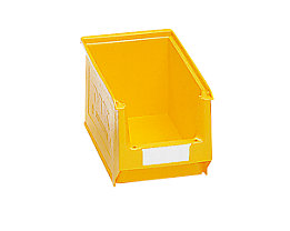 mauser Sichtlagerkasten aus Polyethylen - Inhalt 3,3 l - gelb, VE 25 Stk