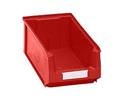 Sichtlagerkasten aus Polyethylen - Inhalt 7,46 l - rot, VE 14 Stk