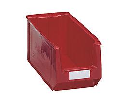 Sichtlagerkasten aus Polyethylen - Inhalt 11,25 l - rot, VE 10 Stk