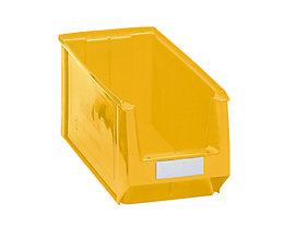 Sichtlagerkasten aus Polyethylen - Inhalt 11,25 l - gelb, VE 10 Stk
