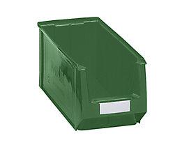 mauser Sichtlagerkasten aus Polyethylen - Inhalt 11,25 l - grün, VE 10 Stk