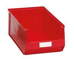 Sichtlagerkasten aus Polyethylen - Inhalt 24,65 l - rot, VE 10 Stk