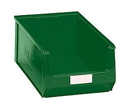 Sichtlagerkasten aus Polyethylen - Inhalt 24,65 l - grün, VE 10 Stk