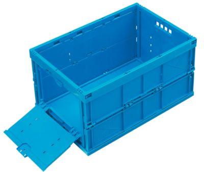 Faltbox aus Polypropylen - Inhalt 65 l, geschlossen mit stirnseitiger Entnahmeklappe