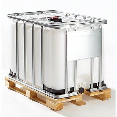 Cubitainer de stockage et de transport sur palette en bois - capacité 600 litres
