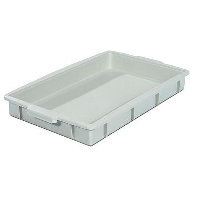 Kunststoff-Stapelbehälter - Inhalt 9 l, Außenmaße LxBxH 560 x 355 x 64 mm