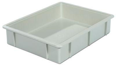 Kunststoff-Stapelbehälter - Inhalt 10 l, Außenmaße LxBxH 445 x 345 x 90 mm