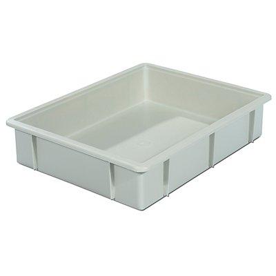 VECTURA Kunststoff-Stapelbehälter - Inhalt 10 l, Außenmaße LxBxH 445 x 345 x 90 mm