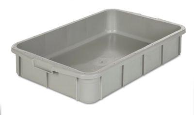 Kunststoff-Stapelbehälter - Inhalt 26 l, Außenmaße LxBxH 668 x 445 x 122 mm