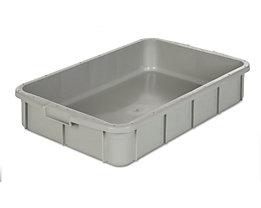 Kunststoff-Stapelbehälter - Inhalt 26 l, Außenmaße LxBxH 668 x 445 x 122 mm - grau, ab 10 Stk