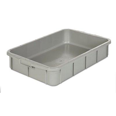 VECTURA Kunststoff-Stapelbehälter - Inhalt 26 l, Außenmaße LxBxH 668 x 445 x 122 mm
