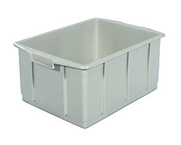 Kunststoff-Stapelbehälter - Inhalt 23 l, Außenmaße LxBxH 460 x 330 x 202 mm - grau, ab 10 Stk