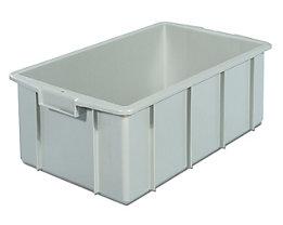 Kunststoff-Stapelbehälter - Inhalt 35 l, Außenmaße LxBxH 600 x 355 x 210 mm - grau, ab 10 Stk